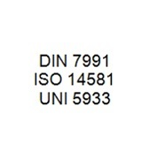 DIN 7991 / ISO 14581 / UNI 5933 - Hexalobular Socket Countersunk Head Bolt