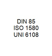DIN 85 / ISO 1580 / UNI 6108 - Slotted Pan Head Bolt