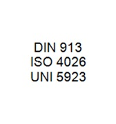 DIN 913 / ISO 4026 / UNI 5923 - Flat Point Hexagon Socket Setscrew