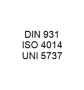 DIN 931 / ISO 4014 / UNI 5737 - Hexagon Head Bolt