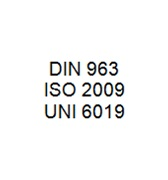 DIN 963 / ISO 2009 / UNI 6019 - Slotted Countersunk Head Bolt
