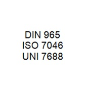 DIN 965 / ISO 7046 / UNI 7668 - Cross Recessed Countersunk Head Bolt