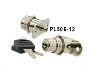 pushlock camlock locks flat key 5 disc flange fixing for sliding wooden doors PL506-12 series