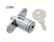 pushlock camlock locks flat key 5 disc thrifty flange fixing for sliding wooden doors C990 series