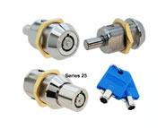 pushlock camlock locks round key extra security comact threaded body 25 series
