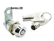 round key camlock no master key die cast 7 pin 2D series lock