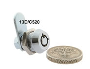 round key camlock no master key microsize 4 pin 13D  C520 series lock