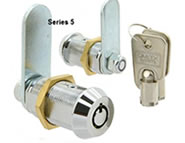 round key camlock with master key solid brass 5 series lock