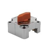 QCSQ-OG Sliding lock for square bar - orange