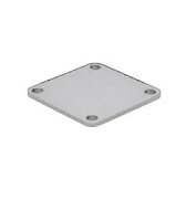 QCSQSP4003 Riserplate for sliding lock for square bar -  length 40 mm