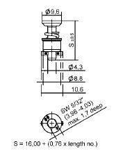 Camloc Quarter Turn - D40E28-10BP - Hex recess head (D4002) : Anemo
