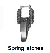 Spring Equipped SAV Latches