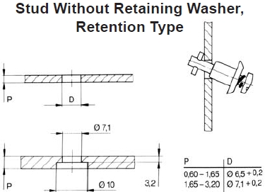 no retaining washer for 2600 & 2700 series quarter turns
