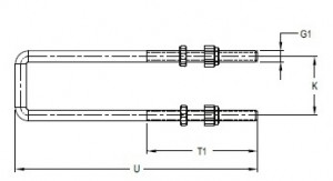 U-bolt for clamps