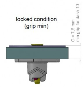 locked position minimum grip