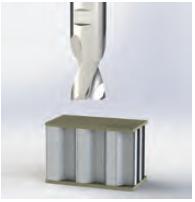 Montage insert composite - Préparation perçage