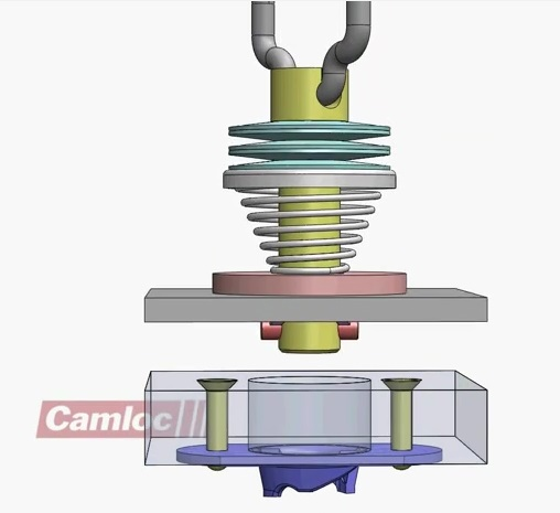 new camloc product 991F ejector spring install to frame