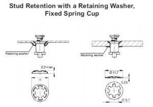 2700 series - fixed spring cup retention
