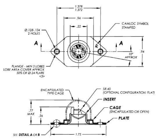 244-22 camloc receptacle