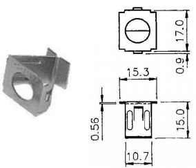 tamper proof clip in receptacle quarter turn fastener