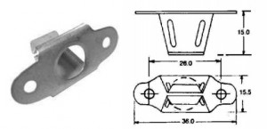 tamper proof receptacle quarter turn fastener