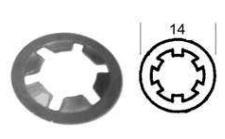 tamper proof retaining ring quarter turn fastener