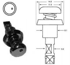 tamper proof single eye quarter turn fastener