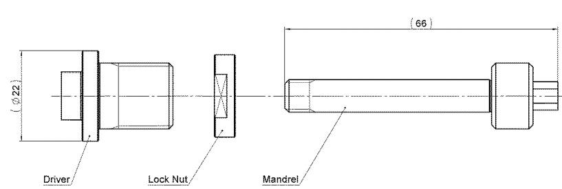 keensert power tool kit 3352TH driver lock nut and mandrel